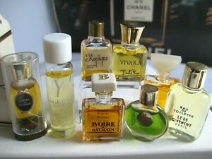 🎁Lot New Vintage *PARFUM Micro mini perfume Replique Ivoire Le De Vivara Fame