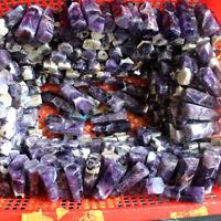 10Pcs Natural Banded Chevron Dream Amethyst Quartz Crystal Wand Point Healing