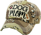 Dog Mom Vintage Distressed Adjustable Desert Camo Women's Baseball Hat