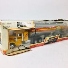 Vintage NEW BRIGHT Battery Operated HEAVY HAULER Semi Truck Pilot Oil W/ Box