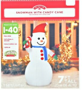Holiday Time 7ft Snowman Inflatable by Gemmy Industries new