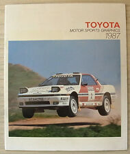 TOYOTA MOTOR SPORTS GRAPHICS 1987 Rallying Racing LF Publicity Brochure