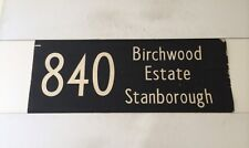 "London Hatfield Linen Bus Blind 1973 33""- 840 Birchwood Estate Stanborough"