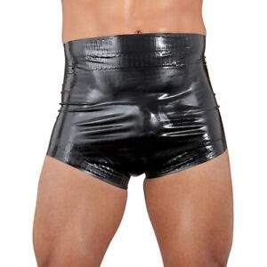 "Latex Windelslip schwarz Adult Herren Gummihose Slip Pants S M L XL 2XL ""Elvis"""