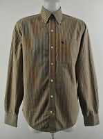 ABERCROMBIE & FITCH Muscle Mens Shirt Striped Collared Long Sleeve Size Small