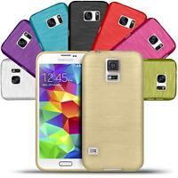 Hülle für Samsung Galaxy S5 / S5 Neo Case Brushed Muster Schutz Cover Tasche