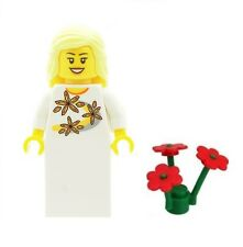 LEGO Wedding Bride Minifig with Red Flowers D Girl Minifigure NEW Gift