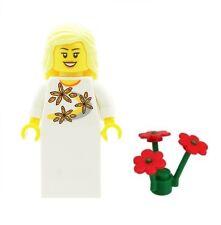 Lego minifig mariée de mariage avec fleurs rouges d fille minifigure Nouveau Cadeau