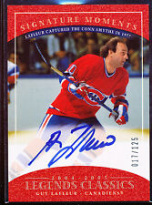 2004-05 UPPER DECK LEGENDS CLASSICS GUY LAFLEUR AUTO 17/125 SIGNATURE MOMENTS