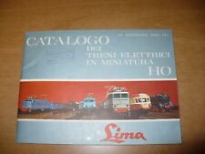 MODELLISMO FERROVIARIO CATALOGO LIMA 1965-66 TRENI ELETTRICI IN MINIATURA HO