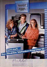 Telefunken Agentur Original Prospekt / Katalog   1986 86