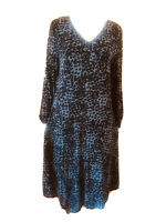 Blue Illusion-Animal Print-A-Line Dress-Size L
