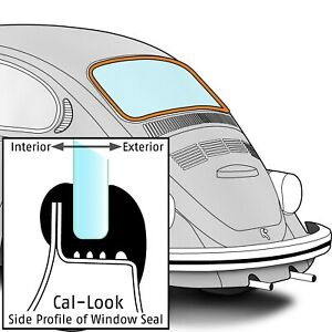 1972-1977 Volkswagen Beetle Sedan Rear Window Seal Cal-Look 384787