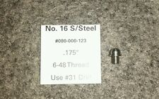 "#16 Shotgun Stainless Steel Front Bead Sight 6-48 .175"" Skirted Qty (1)"