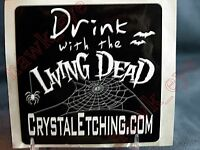 """Living Dead Dolls 'DrinK With The Living Dead Dolls"""" Sticker Rare"""