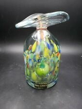 Mihai Topescu Art Collection Hand Crafted Romanian Glass Signed Interior Apple