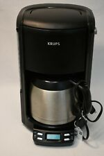 Krups Coffee Maker Stainless Thermal Carafe 10 C. FMF4 13.75 x 7.75in. Cord 35in