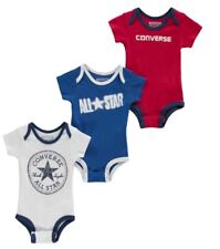 Converse All Star Baby 3 Stück Set Bodysuit Boys Jungen Strampler 0 - 6 Monate