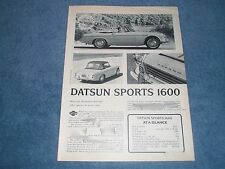 "1967 Datsun Sports 1600 Vintage Road Test Info Article ""More for the Money..."""