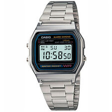 Casio Para Hombre Reloj Digital, Silver-black a158wa-1
