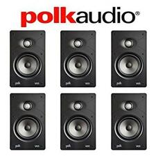 Polk Audio V65 High Performance Vanishing In-Wall Loudspeaker (6 Pack)
