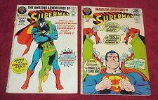 Amazing Adventures of SUPERMAN #243 #247 Low Grade 2 comic Lot Free Ship Movie