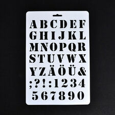Lettering Stencils, Letter and Number Stencil, Painting Paper Craft Alphabet 2T2