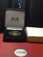 The KING GEORGE I 1720 GOLD Half-Guinea VF. Capsulated Boxed Spink 3635