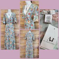 Amelia James Floral Dress Size XS Long Maxi Side Slit Boho Chic Hippie