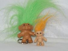 GREEN Troll Keyring/Pencil Top GREAT GIFT - Free mini troll include