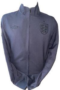 Retro Umbro England Rare Ramsey Style Blackout Anthem Jacket Sized Medium