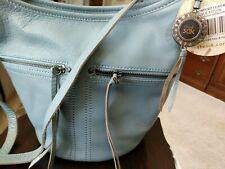 The Sak Womens Newport Bucket Harbour Blue Cross Body Leather 107275 NWT