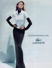 Publicité Advertising 2011 LACOSTE collection pret à porter mode