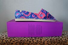 LIBERTY x Havaianas Marine Blue Floral ESPADRILLE Shoes Sandals Sz US 8 NIB