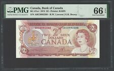 Canada 2 Dollars 1974 BC-47a-i Uncirculated Graded 66