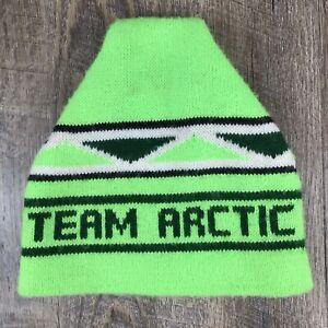 Vintage Arctic Cat Team Arctic Snowmobiles Winter Knit Hat 1970s Rare Arctco