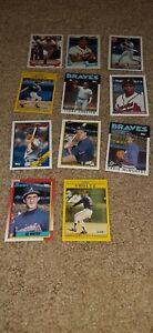 Atlanta Braves lot of 11 Baseball Cards
