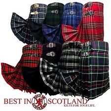 Scottish Kilt: Mens 5 Yard Casual Tartan Kilts Highland Dress, All Tartans/Sizes