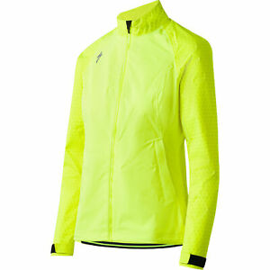 Specialized Women's Medium Deflect Reflect H2O Cycling Jacket Wind-Water Proof