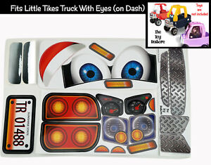 Replacement Stickers fits Little Tikes Custom Cozy Coupe Older Truck W Eyes Boy