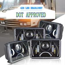4pcs 4x6'' DOT Approved LED Headlights DRL for Peterbilt Kenworth Freightliner
