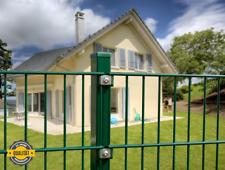 Doppelstabmattenzaun 10m x 1,03m, grün Zaun Gartenzaun Metallzaun Gitterzaun
