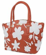 Kenneth Cole Fleura Satchel Tote Shoulder Handbag Purse Coral White NWT