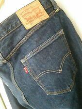 Levis 501 Mens Button Fly Jeans Size W34 L32 Levi indigo dark blue excellent con