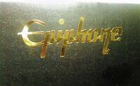 Epiphone Guitar Headstock Logo Die-Cut Decal, OEM, 0.4% GOLD LEAF Luthier