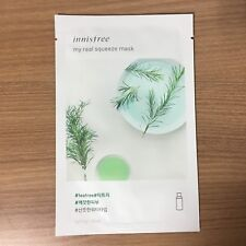 1 SHEET INNISFREE MY REAL SQUEEZE MASK PACK - TEA TREE REFRESHING & CLEAN