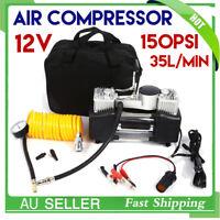 12V 150PSI Car Air Compressor 4WD Tyre Inflator Portable Kit Pressure Pump AU