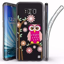 For Samsung Galaxy S8 Plus,Tri Max Transparent Full Body Case Cover OWL