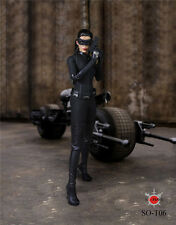 Batman Catwoman Action Figure Headsculpt Cloth Suit Set Model 1/6 SOTOYS SO-T06