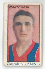 Figurina Calciatori anteguerra MONTESANTO Zaini anni 30 20 Calcio Bologna FC